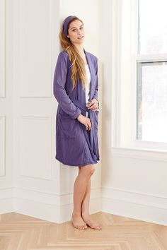 Bridesmaids Gift! This is J Bamboo Robe with matching headband. Get ready together in matching robes.