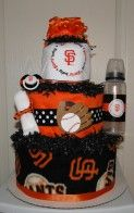 SF Giants diaper cake idea. . . . ok I don;t want babies but this is amazing lol