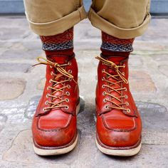 SELVEDGE x SOCKS x SHOES. those are some knockout Red Wings.