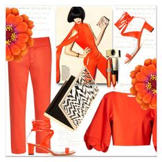 """ORANGE ..."" by dragananovcic ❤ liked on Polyvore featuring Dolce&Gabbana, Alice + Olivia and TIBI"