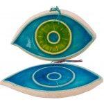 Greek Ceramic Art - Eye Ceramic Painting, Ceramic Art, Hand Painted Ceramics, Pottery Art, Beach Mat, Greek, Outdoor Blanket, Eye, Handmade