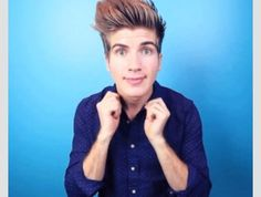 Joey Graceffa. Probably has one of the whitest teeth that I have ever see. And probably one of the cutest American guys that I have ever seen.