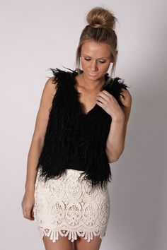 bingle lace mini skirt- ivory