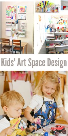 Kids Art Space -- design a nook, a half room, or a whole art studio!