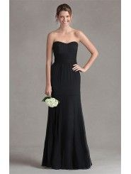 Crinkle Chiffon Strapless Sweetheart Empire Mermaid Bridesmaid Dress