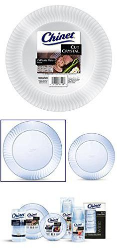 Chinet Crystal Plates. Chinet Cut Crystal Dinner Plates 10 Inch 100 Count.  sc 1 st  Pinterest & Settings 3 oz. Disposable Plastic Cups 100 count | Plastic cups ...