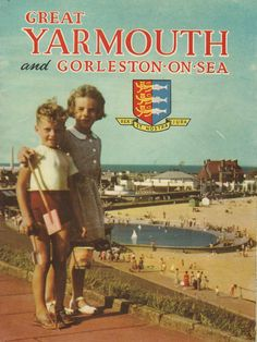 1953 Yarmouth Guide - June Pearson was a couple of years older then myself (Ronnie Taylor) and she used to take me to the beach which was a couple of mile from Queen's Crescent where we both lived. A couple of men had a tripod set up and took our photo, they gave us 6p each. It later appeared on the front page of the guide and in later years on the inside pages.
