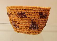 COAST SALISH BASKET - IMBRICATED   native basketry