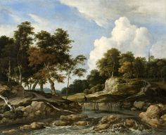 Salomon van Ruysdael - Wooded River Landscape - Private collection