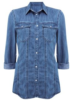 Indigo Denim Shirt Jacket | New in | MintVelvet #MintVelvet #SS15 #MVSS15