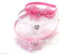 Pretty Spotty Bow Headband Hair band Alice Band in satin ribbon Bridesmaid