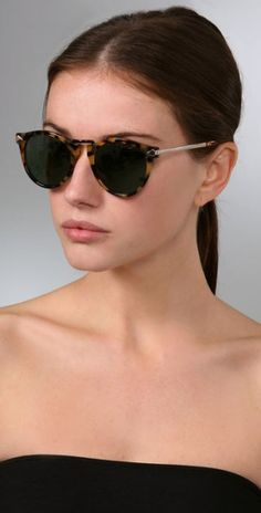 Karen Walker Helter Skelter Sunglasses in Animal