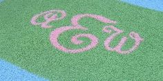 Initial Monogrammed Rugs Personalized Baby Nursery Kids Bedroom Rugs