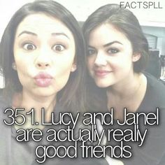 Pretty Little liars besties I think they make good friends in pll they hated each other 🤣🤣🤣🤣😂😂 Pretty Little Liars Meme, Preety Little Liars, Liar Meme, Pll Memes, Best Shows Ever, Janel Parrish, Favorite Tv Shows, Lucy Hale, Fun Facts