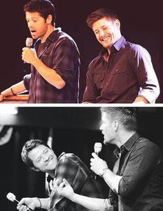 Misha Collins and Jensen Ackles. I just love the way they smile.