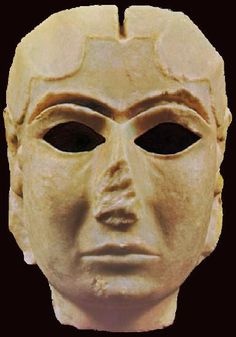 Uruk. The Mask of Warka, also known as the 'Lady of Uruk' ca 3100 BC, is one of the earliest representations of the human face. The carved marble female face is probably a depiction of Goddess Inana. Mesopotamia