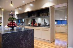 Fairmont Homes island bench top featuring Caesarstone Vanilla Noir. Fairmont Homes, Ebony Color, Marble Furniture, Island Bench, Kitchen Benches, Kitchen Tops, Home Reno, Modern Kitchen Design, Vanilla