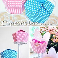 Free Printable Cupcake Gift Boxes