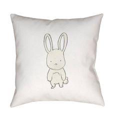 Surya Nursery Bunny Outdoor Pillow - NUR005-1818