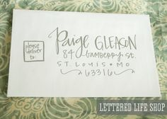 Wedding Calligraphy Envelope Addressing  by LetteredLifeShop, $2.50