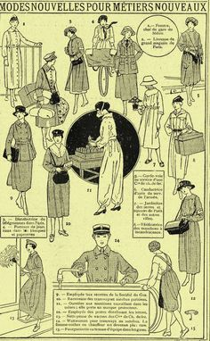 Dress for French women in new trades WWI