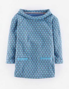 Jersey Jacquard Top WL913 3/4 Sleeved Tops at Boden
