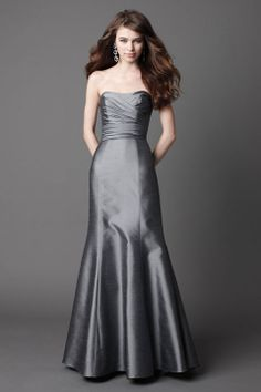 Glamorous sleeveless trumpet / mermaid bridesmaid dress
