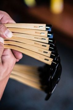 Groomsmen gift idea - custom wooden sunglasses with {Brooke Danielle Photography, LLC} #groomsmengiftsideas