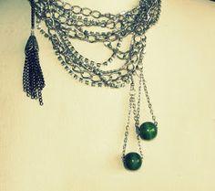 WobiSobi: Bead and Chain Earrings, DIY