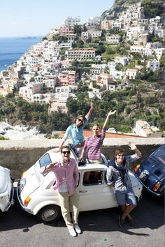 Ciao! Friends, Fiat, and fun on the cliffs of the Italian coast.