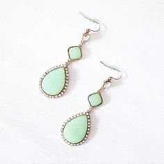teardrop earrings offers welcome rhinestone teardrop earrings. some tarnish, priced accordingly. •970055• Jewelry Earrings