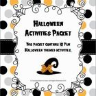 Another great idea from www.teachinghearttoheart@blogspot.com This is a packet filled with really fun Halloween activities. I have included 10 different activities.  All of these items are also sold separately...