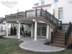 Very attractive treatment of the space under the deck.  I really like this one. #deckdesigns