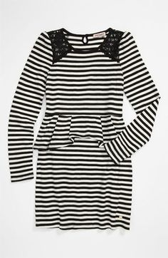 Juicy Couture Lace & Stripe Dress (Little Girls & Big Girls) available at #Nordstrom -- omg, it matches my bcbg top!!!