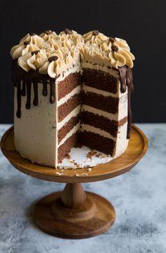 Chocolate Cake Frosting, Dark Chocolate Cakes, Chocolate Recipes, Espresso Chocolate Cake, Melted Chocolate, Espresso Coffee, Coffee Coffee, Coffee Break, Morning Coffee