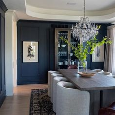 Wall color is Benjamin Moore Abyss. Stunning!