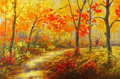 """""""Nice Autumn Day - Fall Alley Series"""" by Stanislav Sidorov"""