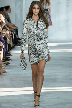 Diane von Furstenberg Spring 2015 RTW – Runway – Vogue...Black and White Dress...