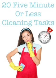 If you don't have much time, but still want to get something in your home cleaned up, do one of these 20 cleaning tasks, each of which takes five minutes or less to complete. #ad