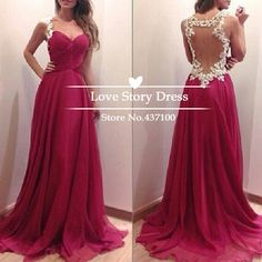 $118.9-Vestidos De Fiesta 2014 New Fashion Sweetheart Floor Length Evening Gowns Sexy Sheer Open Back Chiffon Long Prom Dresses