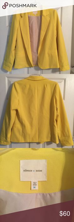 UO Silence + Noise Blazer Really cute blazer in great condition. Has a small stain on one lapel (pictured). Sleeves can be worn full length or rolled. Urban Outfitters Jackets & Coats Blazers