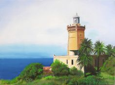 "images of lighthouses | TANGIER LIGHTHOUSE"" 18X24"