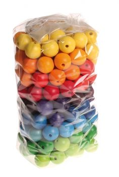 180 Coloured Beads, 20mm