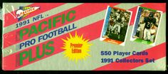 1991 PACIFIC PREMIER EDITION PRO FOOTBALL SEALED FACTORY SET FREE SHIPPING #GreenBayPackers