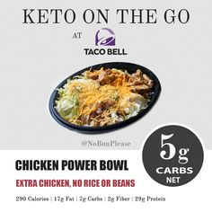 Best Keto & Low Carb Fast Food Options on the Go Low Carb Fast Food bei Taco Bell Low Carb Fast Food, Healthy Fast Food Options, Fast Healthy Meals, Low Carb Keto, Low Carb Recipes, Healthy Recipes, Fast Foods, Fast Recipes, Best Keto Fast Food