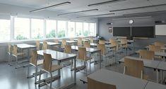 3D classroom interior model Classroom interior Education design interior University interior design