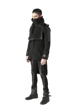 Yohji Yamamoto Pour Homme Ss13 Look 26 String Tie Full