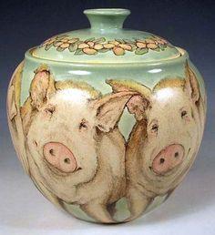 Chubby Pigs Cookie Jar