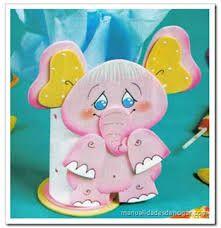 Resultado de imagen para moldes en foami para portalapices con muñequitas