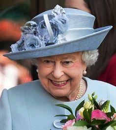 Queen Elizabeth, June 4, 2015 in Rachel Trevor Morgan   Royal Hats